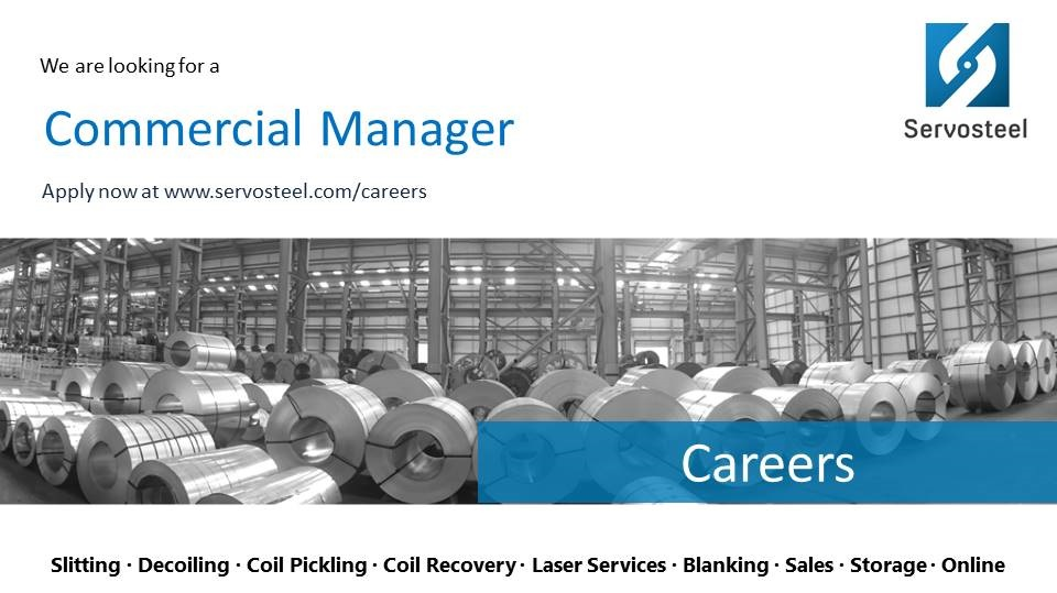 Servosteel seeks a commercial manager