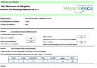 Wastepack Statement of Obligation 2013
